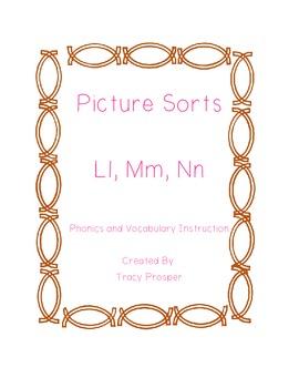 Picture Sorts - Ll, Mm, Nn