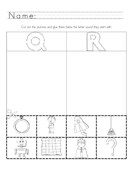 Picture Sound Sort A to Z