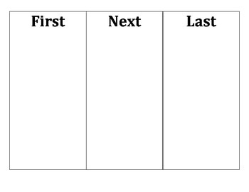 Picture Story Sequencing Mat