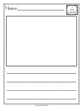 Picture Story Writing Paper: All About Me! (English)