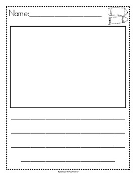Picture Story Writing Paper: Back-to-School (English)
