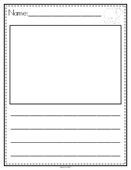 Picture Story Writing Paper: Brown Bear, Brown Bear, What Do You See? (English)