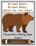 Brown Bear Story Writing Paper in English