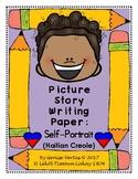 Picture Story Writing Paper: Self-Portrait (Haitian Creole) (Haiti)