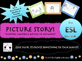 Picture Story for ESL Conversation & Writing - Shopping: R
