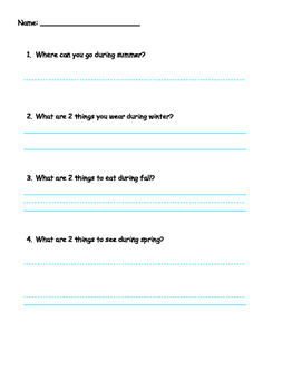 Picture Supported Writing Assessment