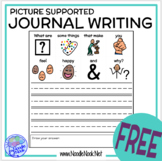 Picture Supported Writing Prompts- Writing for NonWriters in SpEd or Autism Unit