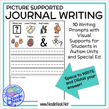 Picture Supported Writing Prompt for LIFE Skills students