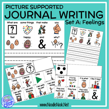 Picture Supported Writing Prompts- FEELINGS for SpEd or Autism Units
