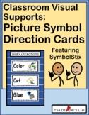 Picture Symbol Direction Cards-- Visual prompts for work behaviors (SymbolStix)