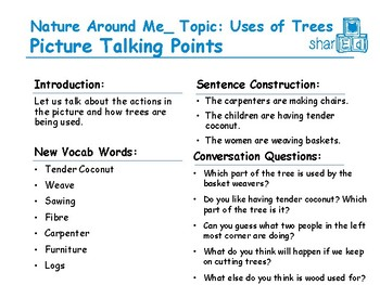 Picture Talk: Uses of Trees (Indian Context)
