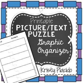 Picture/Text Puzzle Graphic Organizer