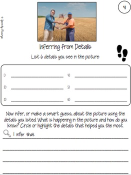Picture This! Language Worksheets Using Real Pictures - Community Helpers