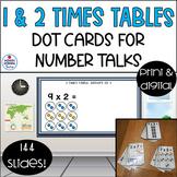 5 sets of Multiplication Dot Cards for Number Talks, Cente