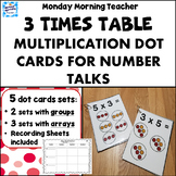 Picture This! 5 Sets of Dot Cards for Multiplication Number Talks 3 Times Table