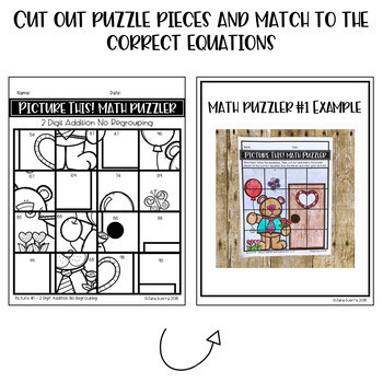 February Math Puzzles (Differentiated/Presidents' Day Activities)