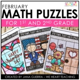 February Math Puzzles / Valentine's Day Math Activities