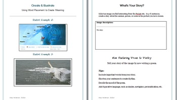 Poetry Project, Poetry Writing, Poetry Activities using the PicLits Website