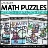 Picture This! January Math Puzzles (Differentiated)