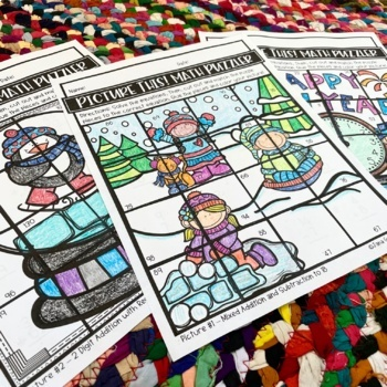 January Math Puzzles / Addition and Subtraction Puzzles