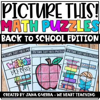 Back to School Math Puzzles / Back to School Math Activities