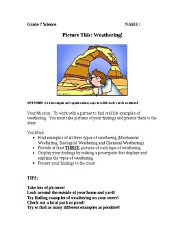 Picture This! Weathering - PPT Project