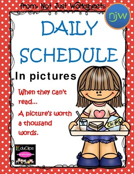 Picture Timeline of Daily Routines for Kinders
