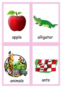 A-Z Picture Vocabulary Cards That Goes With Large A-Z Flashcards