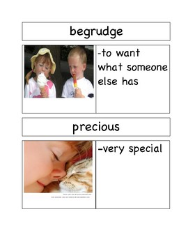 Picture Vocabulary Cards for Chrysanthemum by Kevin Henkes