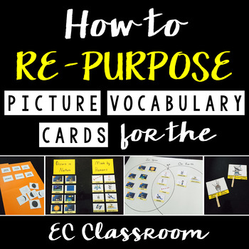 Picture Vocabulary Cards in the EC Classroom - Free Guide & Editable Templates!