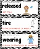 Picture Vocabulary Cards with Definitions for Houghton Mifflin - Grade 2 Zebra