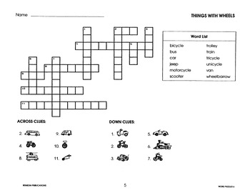 Picture Vocabulary: Crossword Puzzles for English Language Learners