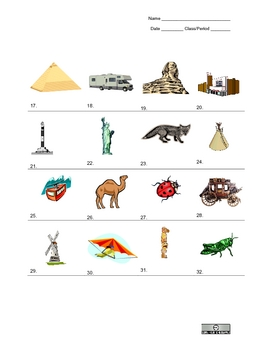 Picture Vocabulary Review: Units 1-4