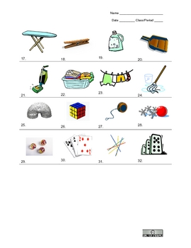 Picture Vocabulary Review: Units 13-16