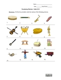 Picture Vocabulary Review: Units 9-12
