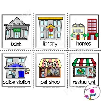 community places picture vocabulary word cards color version tpt. Black Bedroom Furniture Sets. Home Design Ideas