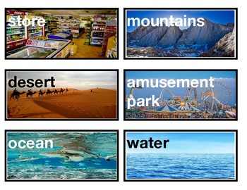 Picture Vocabulary Word Wall Cards for Pre K,1st, 2nd,3rd,4th,ELL