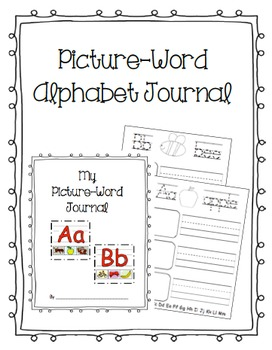 Picture Word Alphabet Journal
