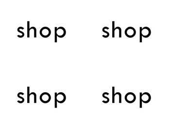 Picture-Word Card Match-Up 'sh' digraph
