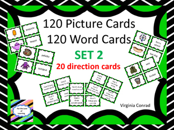 Picture / Word Cards -- 120 of Each Plus 20 Sorting Direction Cards -- Set 2