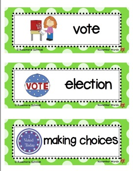 Picture Word Cards Fall Bundle K-3