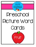 Preschool Picture Word Cards - Freebie #1