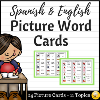 Picture Word Cards (Spanish & English)