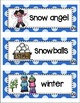 Picture Word Cards Winter Bundle K-3
