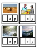 Picture Word Cards - ay
