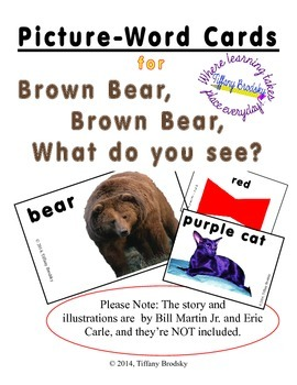 Picture-Word Cards for Brown Bear, Brown Bear What Do You See? by Eric Carle