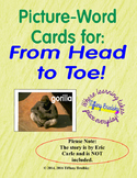 Picture-Word Vocabulary Cards for Eric Carle's From Head to Toe