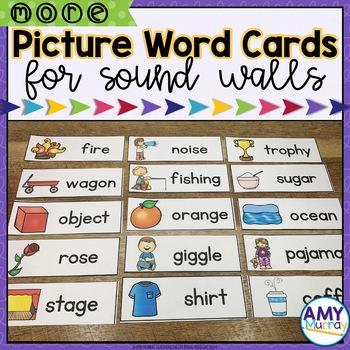 Picture Word Cards for Sound Wall