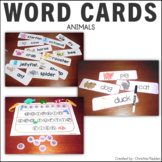 Picture Word Cards with Bottle Caps