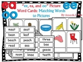 Vowel Teams Picture Word Center Activity:  ee, ea, oo - First; Special Educaton;